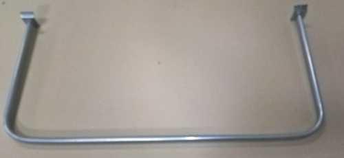 Flohmarkt: Konfektionsrahmen f. Lamellenwand, BxT  880x400, pulverbeschichtet Chrom-Optik